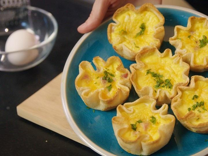 Toasted Quiche Cups